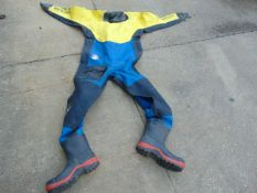 4 x Ex FIRE & RESCUE DRYSUITS WITH BOOTS