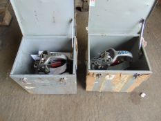 2 x CHURCHILL BRAKE EFFICIENCY RECORDERS WITH PROTECTIVE TRAVEL BOXES