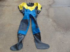 3 X EX FIRE & RESCUE DRYSUITS WITHOUT BOOTS