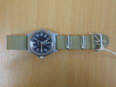 V. RARE AND NICE CONDITION CWC 0552 ROYAL MARINES ISSUE SERVICE WATCH