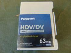10 x Panasonic HDV/DV tapes AY-HDVM63AMQ