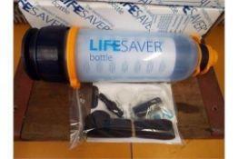 10 x Unissued Lifesaver 400UF ultra filtration water bottles