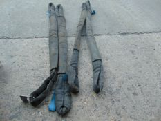 4 x 1.15m 3t ROUND SLINGS WITH SLEEVES