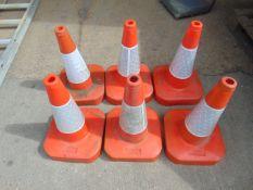 6 x Red Traffic Cones