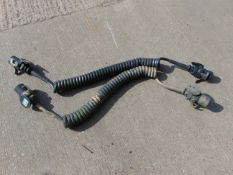 2 x Wabco 7 Pin Curly Trailer Leads