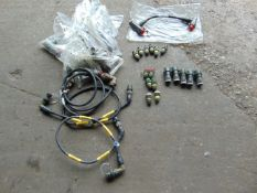 8 x SWITCHABLE CABLE ASSEMBLIES & VARIOUS CONNECTORS AND CABLES