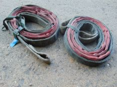 2 x LANDROVER WOLF TOW STROPS WITH WEBBING STRAP