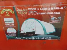 Huge L 65ft x W 30ft x H 15ft Relocatable Heavy Duty Storage Shelter New Unissued