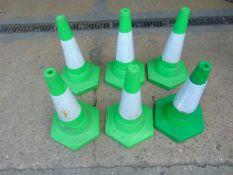 6 x Green Traffic Cones