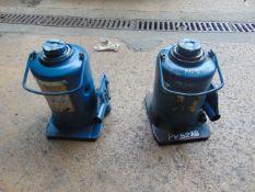 2 x Webber-Hydraulik 12t vehicle bottle jacks