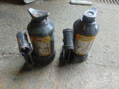 2 x Webber-Hydraulik 3t vehicle bottle jacks