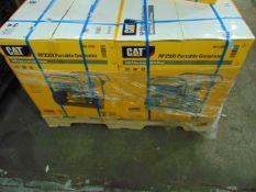 2 x UNISSUED Caterpillar RP2500 Industrial Petrol Generator Sets