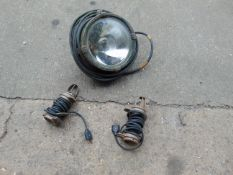 1 x LARGE SPOTLIGHT & 2 x INSPECTION LIGHTS, ALL 2 PIN CONNECTORS