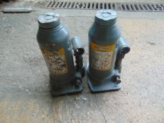 2 x Webber-Hydraulik 8t vehicle bottle jack