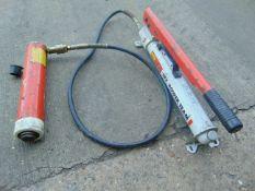 SPX Power Team 15 ton Hydraulic Pump c/w Ram