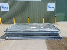 23 x Heras Style Galvanised Fencing Panels 3.5m x 2m
