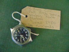Very Rare CWC Fat Boy Service Watch 1980 Falklands Era