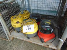 5x Industrial Vacuum Cleaners as Shown
