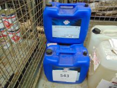 3X 20 LITRES DRUMS OF FUCHS ECOCOOL ULTRALIFE HIGH PERFORMANCE COOLANT FOR METAL WORKING