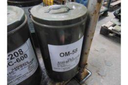 1 x Unissued 20L Drum of OM-58 High Quality Light Oil
