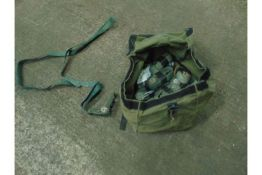 16 x Green Ratchet Straps, with Canvas Bag