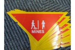 10 x Battlefield Mine Warning Signs