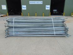 30 x Heras Style Galvanised Fencing Panels 3.5m x 2m