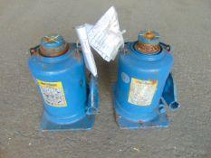 Q 2 x Weber 12 Tonne Hydraulic Jacks