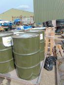 UNISSUED 200L BARREL OF OM33 HIGH PERFORMANCE GENERAL PURPOSE HYDRAULIC OIL