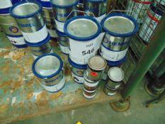5x 5litre Tins of Hempels 77300 white Paint 2 pack, MoD Reserve Stock Unissued
