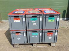 10 x Standard MoD Stackable Storage Boxes c/w Lids