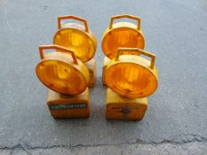 4 x Amber Flashing Lights