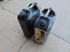 2 x 20lt WATER JERRY CANS