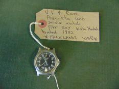 V V Rare Precista Fat Boy W10 Service Watch 1982 - Falklands War