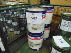 4x 20 litre Drums of International 700 Single Pack Wates based Weathers Resistant Grey Paint