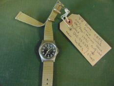 1 Very Rare Unissued Genuine Royal Marines, Navy issue 0552, CWC quartz wrist watch