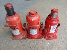 Q 3 x 20 Tonne Hydraulic Jacks