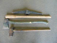 Sledge Hammer, Pick Axe & Axe