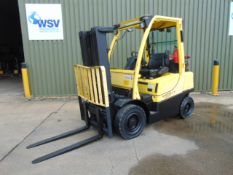 2006 Container Spec Hyster H2.5FT 2.5 Ton Gas Forklift c/w 3 Stage Mast, Side Shift 2,585 HOURS ONLY