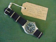 Very Rare Genuine Royal Marines, Navy issue 0555, CWC quartz wrist watch