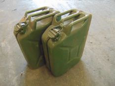 2 x Unissued NATO Issue 20L Jerry Cans