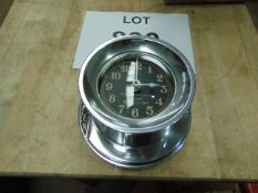 Beautiful Polished Aluminium WW2 MK1 Navy Boat Clock Repro as Shown