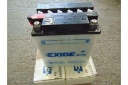 3 Motorbike Type Batteries, 12v 14Ah