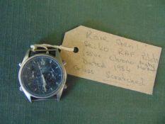 Very Rare Seiko Gen 1 RAF issue pilots Chrono watch