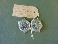 2x CWC 0552 RN/Marines issue watches, Date 1990, 1x winder missing, 1x scratched glass.