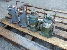 4 x 20t Vehicle Bottle Jacks with 3 Handles