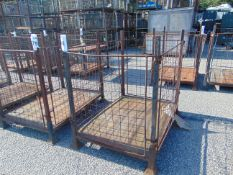 Steel Wire Sided Stacking MoD Post Pallet / Stillage as Shown