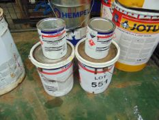 2x 5 litre Tins of International interfine 878 White paint 2 Pack