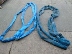 2 x 8t 4m round slings