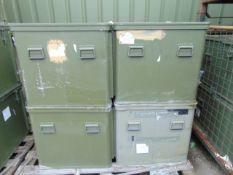 4 x Large Aluminium Storage Boxes 85 x 73 x 65 cms as shown